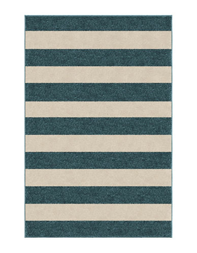 Home Outfitters 6x9 Keywest Stripe Outdoor Area Rug-BLUE-6 x 9