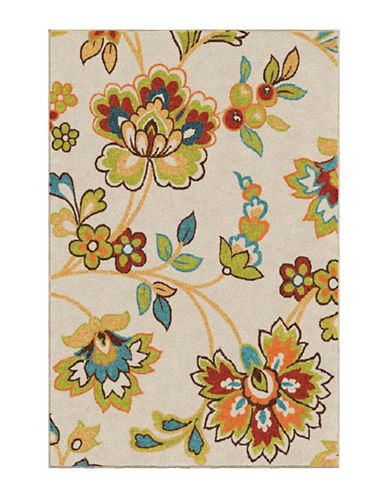 Home Outfitters 6x9 Keywest Wildwood Outdoor Area Rug-WHITE MULTI-6 x 9