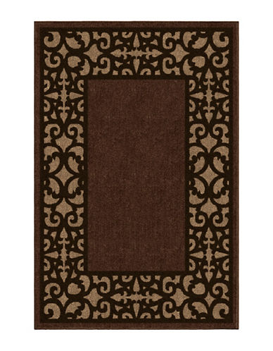 Home Outfitters 6x9 Keywest Border Outdoor Area Rug-BROWN-6 x 9