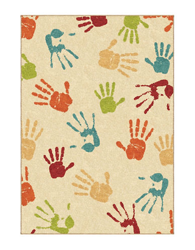 Home Outfitters Handprints Area Rug-IVORY-4 x 6
