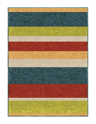 Home Outfitters 3x5 Simple Stripe Outdoor Area Rug-MULTI-3 x 5