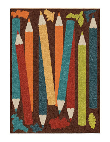 Home Outfitters Crayons Kids Area Rug-BROWN-4 x 6