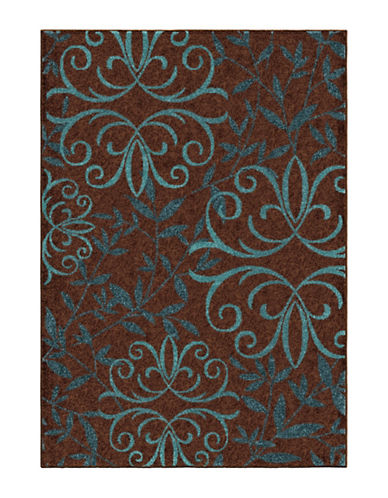 Home Outfitters Voyager 63-Inch x 90-Inch Brown Area Rug-BROWN-5 x 8