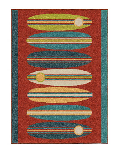 Home Outfitters Surfin Kids Area Rug-RED-4 x 6