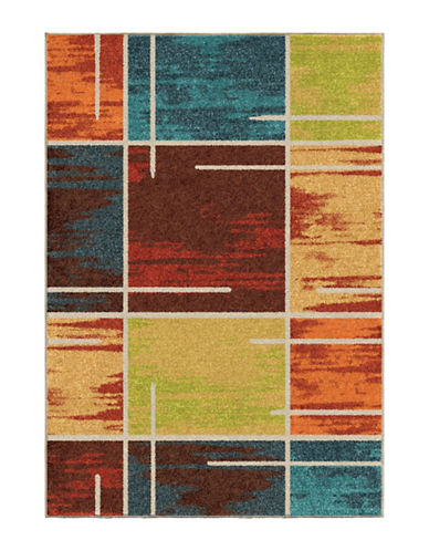 Home Outfitters Armanda Multicolour Distressed Area Rug-MULTI-8 x 11