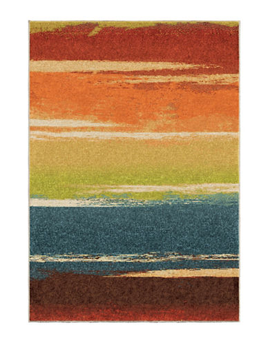 Home Outfitters Spoleto Brushed Stripes Multi Area Rug-MULTI-8 x 11