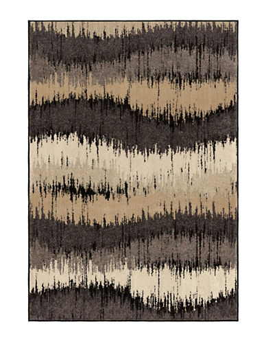Home Outfitters American Heritage Brushed Waves Area Rug-GREY-5 x 8