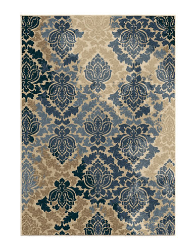Home Outfitters Allover Damask Area Rug-BLUE-8 x 11