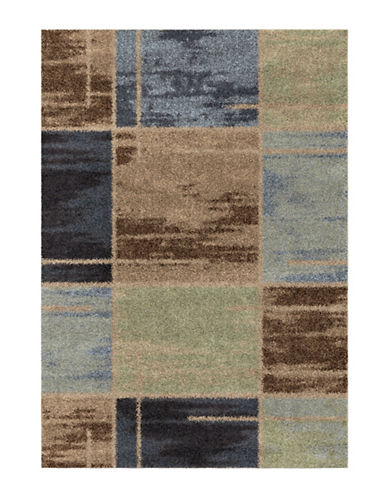 Home Outfitters Armanda Blue Distressed Area Rug-BLUE-5 x 8