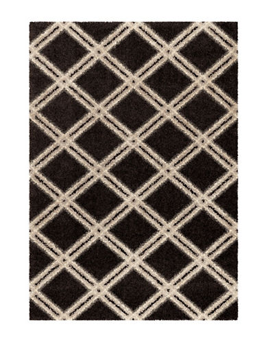 Home Outfitters Diamonds 63-Inch x 90-Inch Ivory Area Rug-BLACK-5 x 8