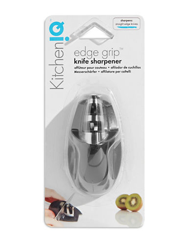 Fox Run KitchenIQ Two-Stage Knife Sharpener-SILVER-One Size