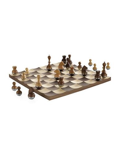 Umbra Wobble Walnut Chess Set-WALNUT-One Size