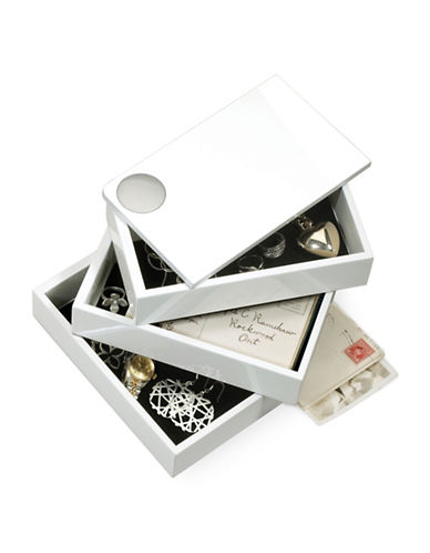 Umbra Spindle Storage Box-WHITE-One Size