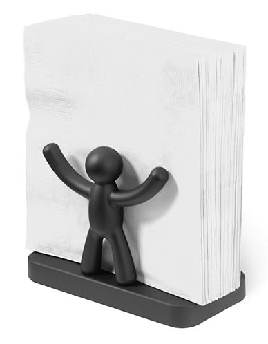 Umbra Buddy Napkin Holder-BLACK-One Size