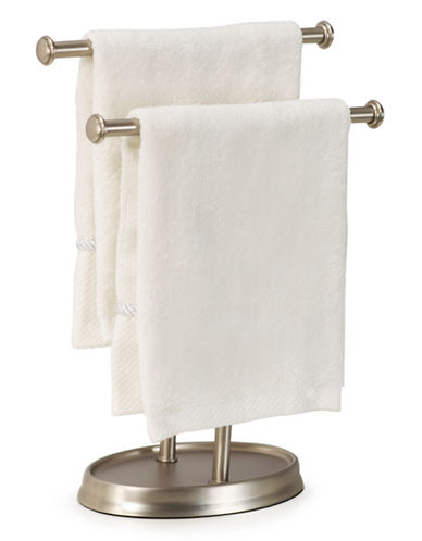 Umbra Double Rack Towel Stand-SILVER-One Size