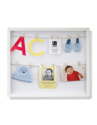 Umbra Clothesline Photo Frame-WHITE-One Size
