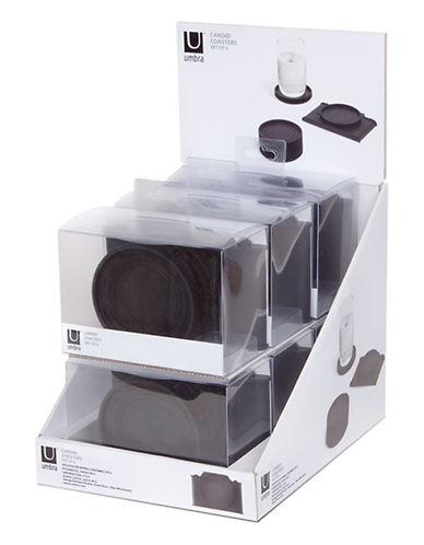 Umbra Six-Piece Camera Coaster Set-BLACK-One Size