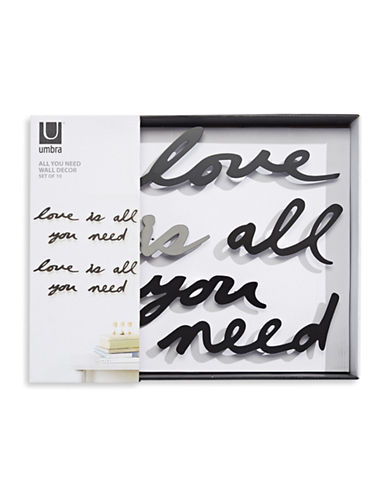 Umbra Love Is All You Need Wall Decor Phrase-BLACK-One Size