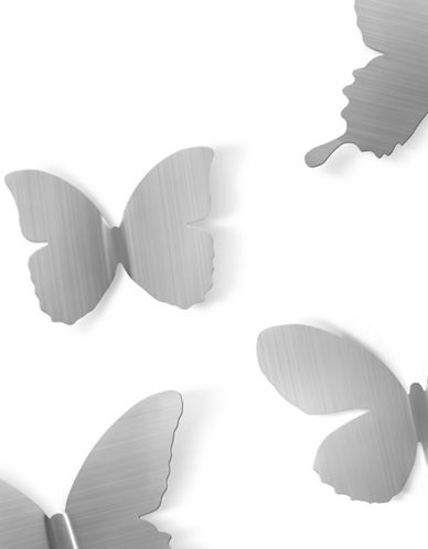 Umbra Metal Mariposa Wall Display-NICKEL-One Size