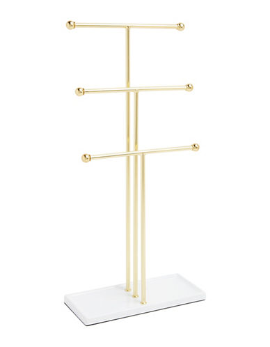 Umbra Trigem Jewellery Stand-GOLD-One Size