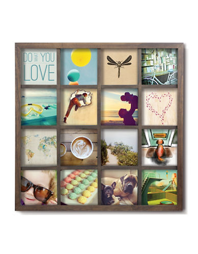 Umbra Gridart Natural Multi-Photo Frame-WALNUT-One Size