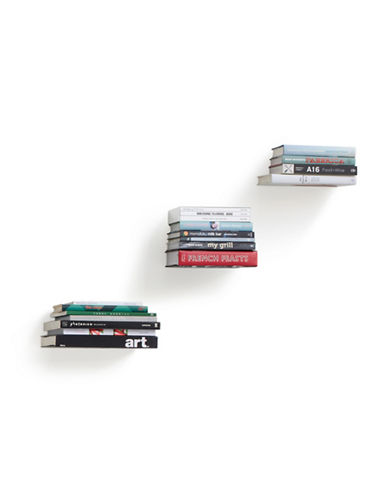 Umbra Three-Pack Concealed Wall Shelves-SILVER-One Size
