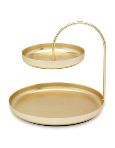 Umbra Two-Tier Accesory Organizer Tray-GOLD-One Size