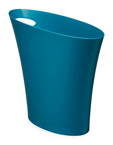 Umbra Skinny Waste Can-TEAL-One Size