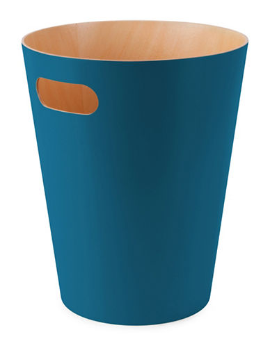 Umbra Woodrow Waste Can-TEAL-One Size