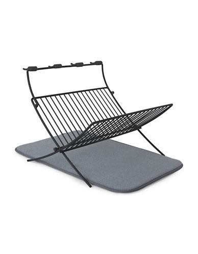 Umbra Dish Rack And Drying Mat-GREY-One Size
