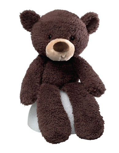 Gund Fuzzy Chocolate Bear Plush Toy-DARK BROWN-One Size