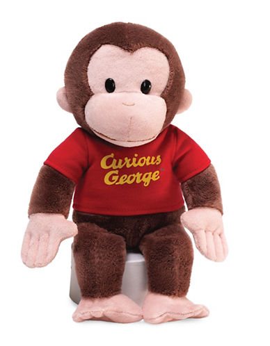 Gund Red Shirt 12-Inch Curious George Plush Toy-BROWN-One Size