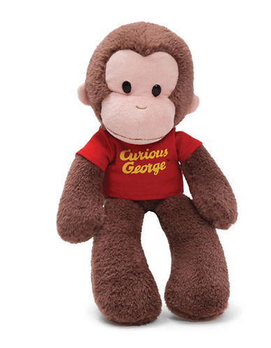 Gund Take-a-Long 15-Inch Curious George Plush Toy-BROWN-One Size