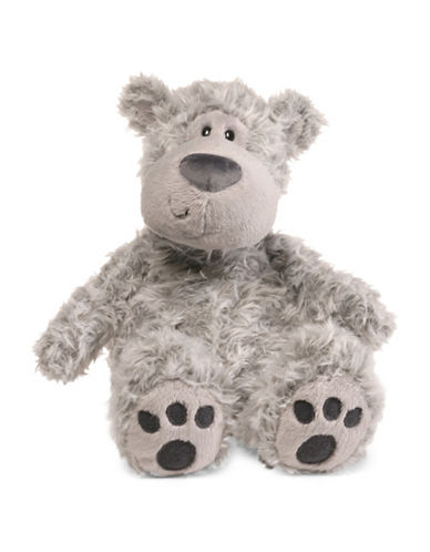 Gund Slouchers Grey Teddy Bear-GREY-One Size