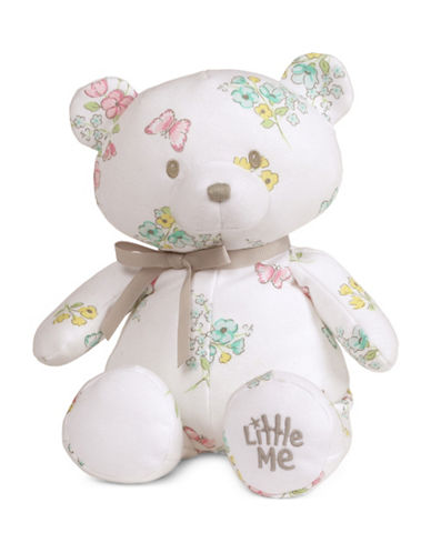 Little Me Meadow Floral Girl Teddy Bear-MULTI-One Size