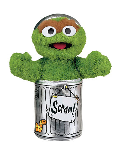Sesame Street Oscar 10-Inch Plush Toy-GREEN-One Size