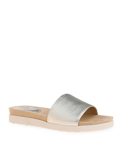 Bandolino Zime Slide Sandals-GOLD-6