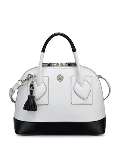 Anne Klein Billie Small Dome Satchel-WHITE-One Size