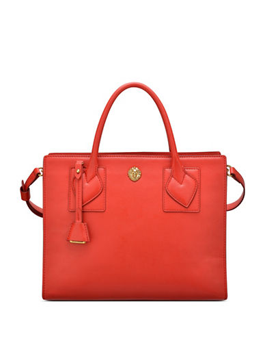 Anne Klein Hillary Square Satchel-FIRE RED-One Size