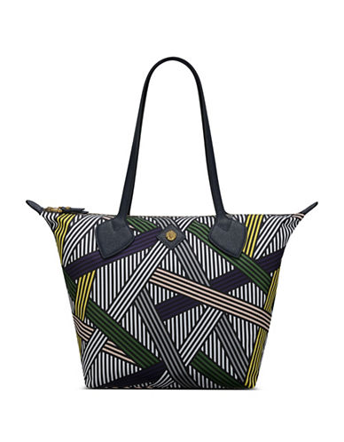 Anne Klein Martha Nylon Split Tote-NAVYMULTI-One Size