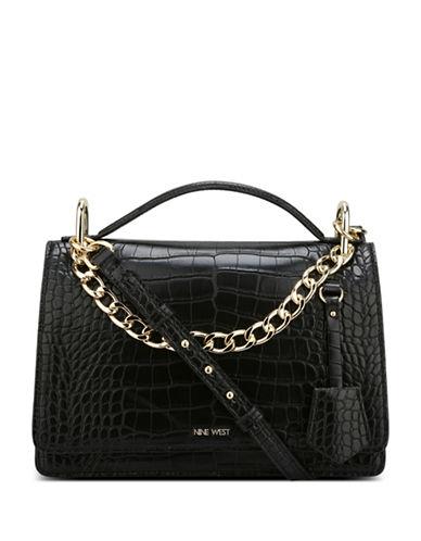 Nine West Croco Shoulder Bag-GREY-One Size