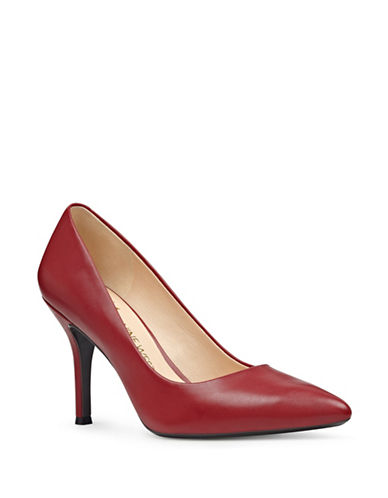Nine West Fifth Patent Leather Dress Pumps-RED-7