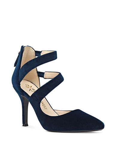 Nine West Wrap Style Pumps-BLUE-5.5
