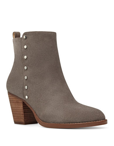 Nine West Freeport Nubuck Booties-GREY-7.5