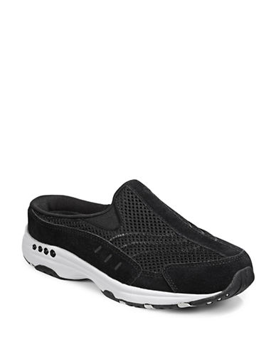 Easy Spirit Casual Mule Sneakers-BLACK/WHITE-6