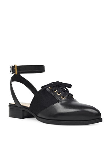 Nine West Ankle Strap Oxfords-BLACK-8.5