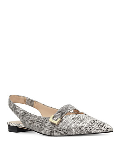 Nine West Amarnto Printed Slingback Flats-OFF WHITE-6