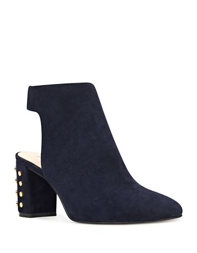 Nine West Xtravert Suede Booties-BLUE-9