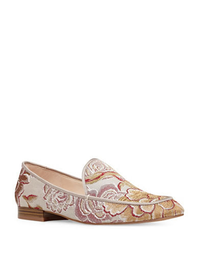 Nine West Xalan Tailored Leather Loafers-NATURAL-6.5