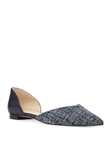Nine West Abdemi Printed Dorsey Flats-BLUE-7.5